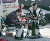 Robert & William Dunlop prepare their engines